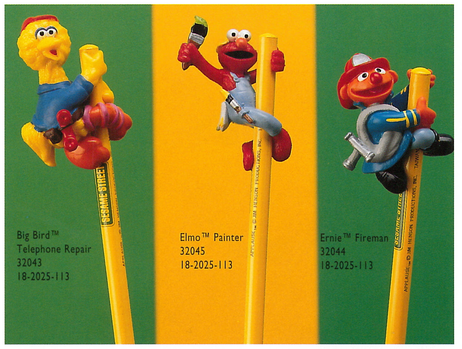 Sesame Street pencil toppers