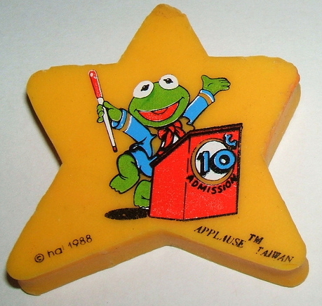 Muppet erasers (Applause)