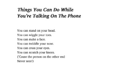 Things You Can Do While You're Talking on The Phone