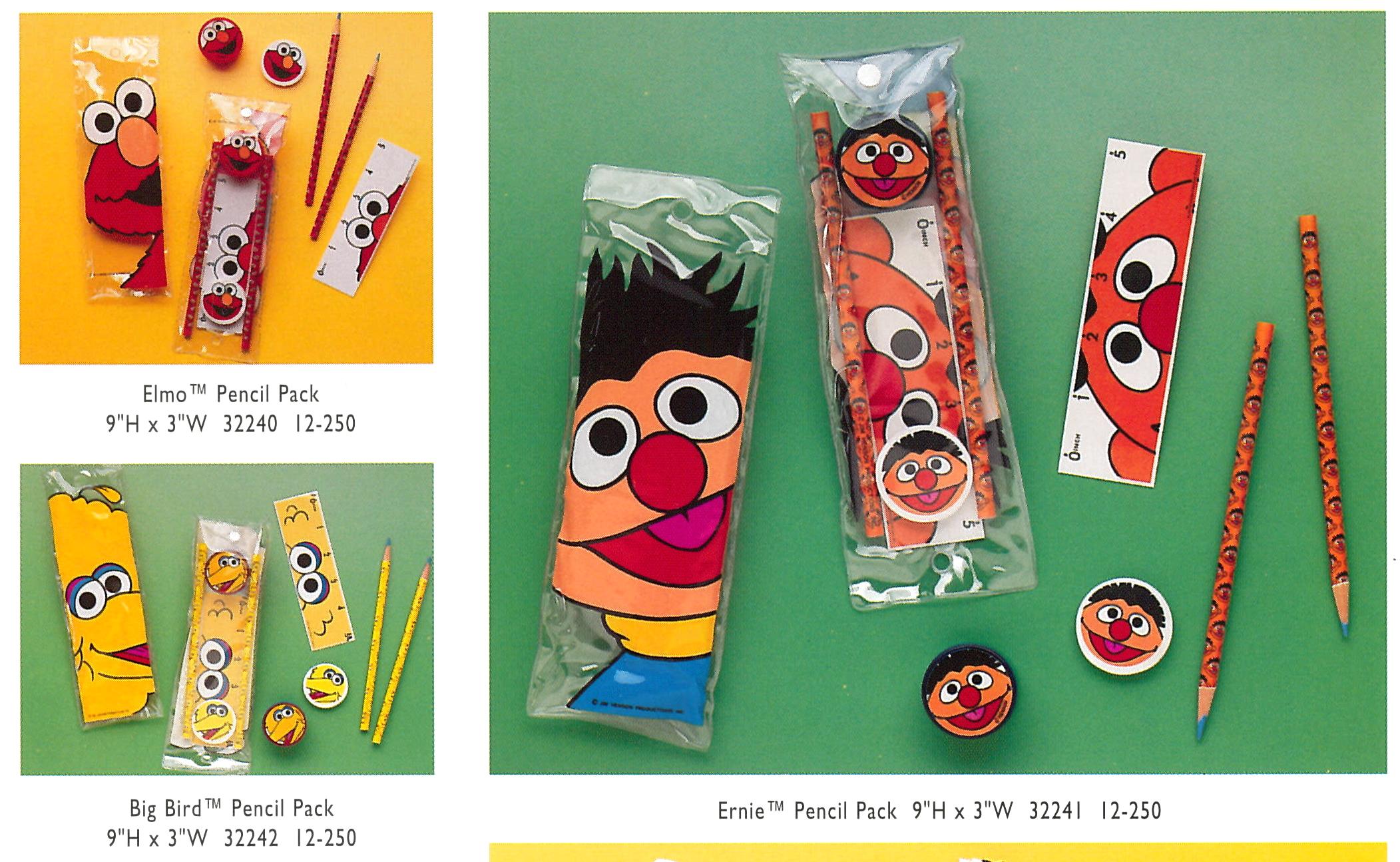 Sesame Street pencil packs