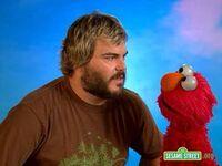 Backstage with Elmo - Jack Black