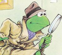 Kermit detective Bunny Slipper Mystery