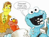 Items other than cookies consumed by Cookie Monster