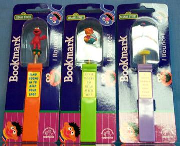 Sesame Street bookmarks (Applause)