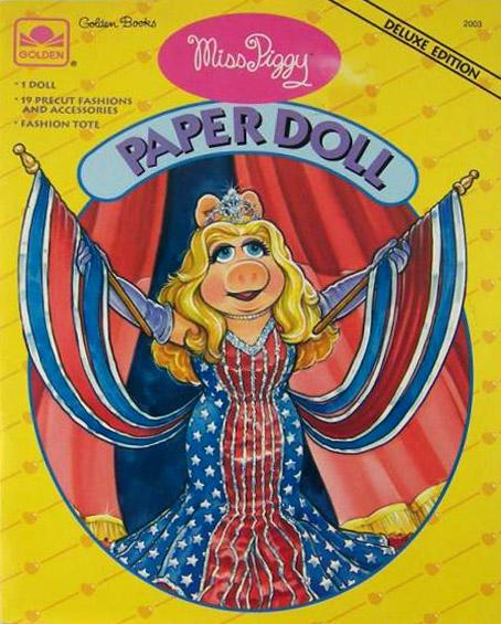 Miss Piggy Paper Doll (Golden)