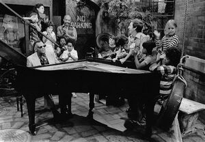 Ray Charles in the arbor with Maria, Gordon, Bob, and the kids.jpg