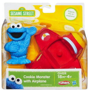 Playskool cookie monster with airplane 1