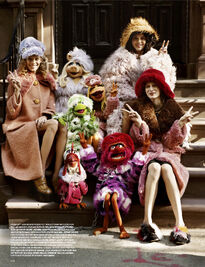 Love magazine Muppets and Lexi, Kendall, Julia
