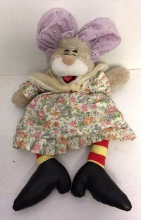 Great grandmother bunny puppet 1