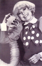 Carol Channing and Sammy the Snake