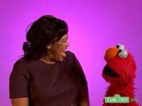 Backstage with Elmo - Chandra Wilson