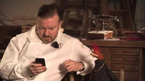 Ricky Gervais and Pepe The King Prawn