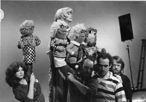 Carol Channing behind the scenes