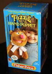 Fisher-price fozzie bear puppet box