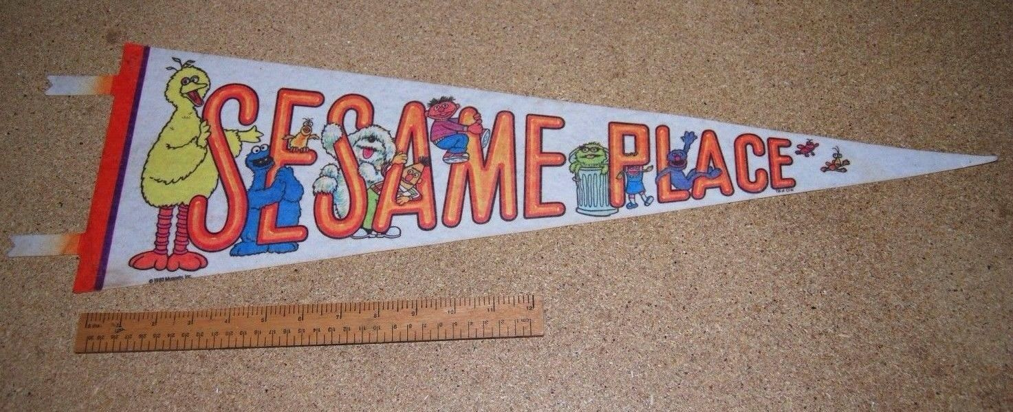 Sesame Place Souvenir Pennant Flag