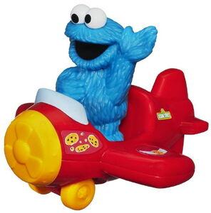 Playskool cookie monster with airplane 2