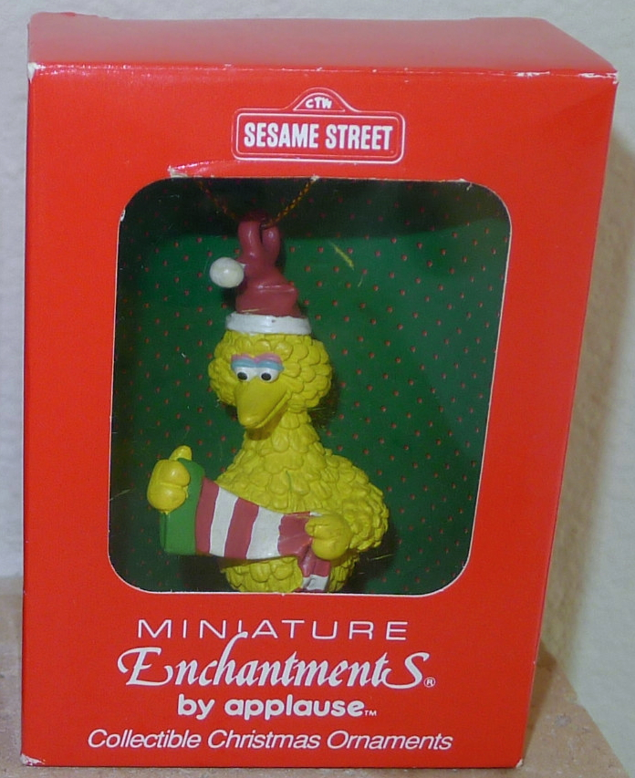 Sesame Street Christmas ornaments (Applause)