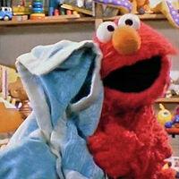 Elmo and blanket