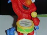 Sesame Street Christmas ornaments (Grolier)