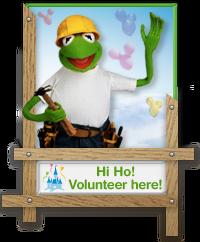 Kermit Volunteer Badge