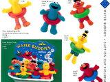 Sesame Street bath toys (Applause)