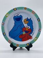 Sesame Street Elmo Cookie Monster plate The First Years 2002