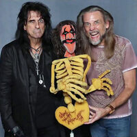 Steve Whitmire and Alice Cooper