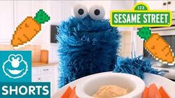 Sesame Street Try Hummus and Carrots with Cookie Monster Cookie Monster Snack Chat 3