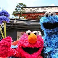 Japan elmo cookie mosnter