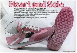 1980 sneakers miss piggy muppet stuff ad