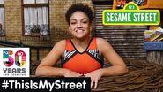 Sesame Street Memory Laurie Hernandez ThisIsMyStreet