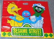 Sesame street general store shopping bags aa