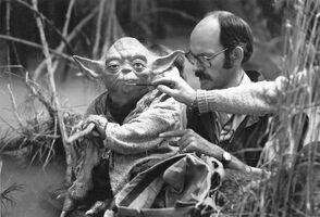 Frank Oz Yoda make-up brush