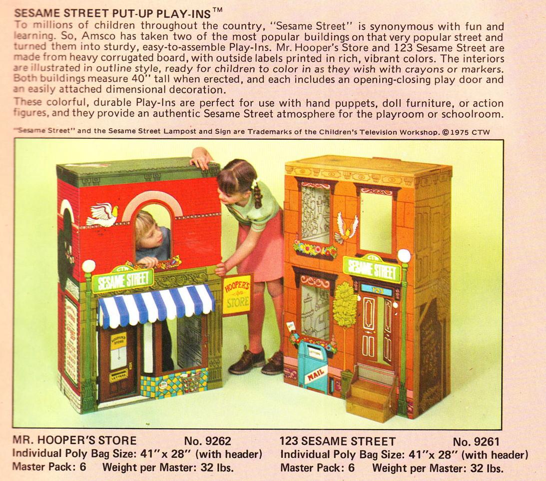 Sesame Street playhouses (Amsco)