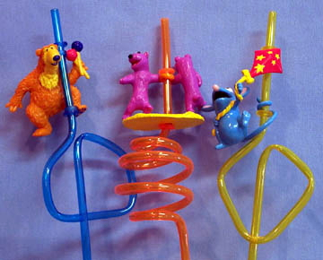 Bear in the Big Blue House straws