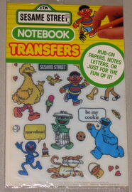 Colorforms 1988 notebook transfers 1