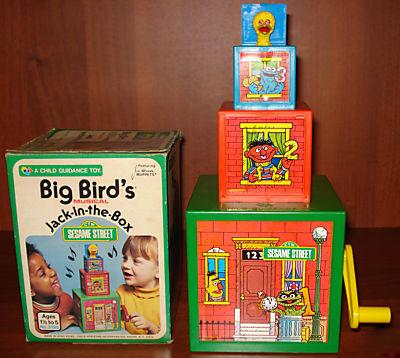 Sesame Street Jack-in-the-Box toys