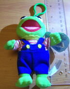 Clip toy play muppet babies clip-on plush kermit 1