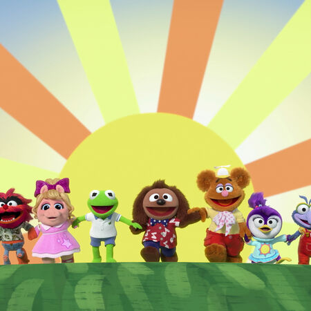 Baby Rowlf debut with cast.jpg