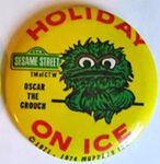 Holiday on ice oscar button