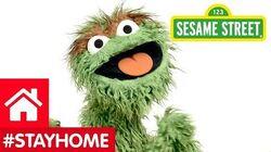 Oscar the Grouch Says Stay Home
