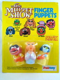 Palitoy muppet finger puppets animal piggy zoot from greatest finger puppets