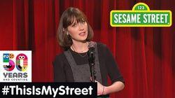 Sesame Street Memory Zooey Deschanel ThisIsMyStreet