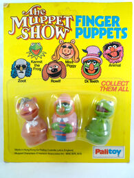 Palitoy muppet finger puppets fozzie doctor teeth kermit from greatest finger puppets