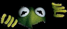 Kermit peeking