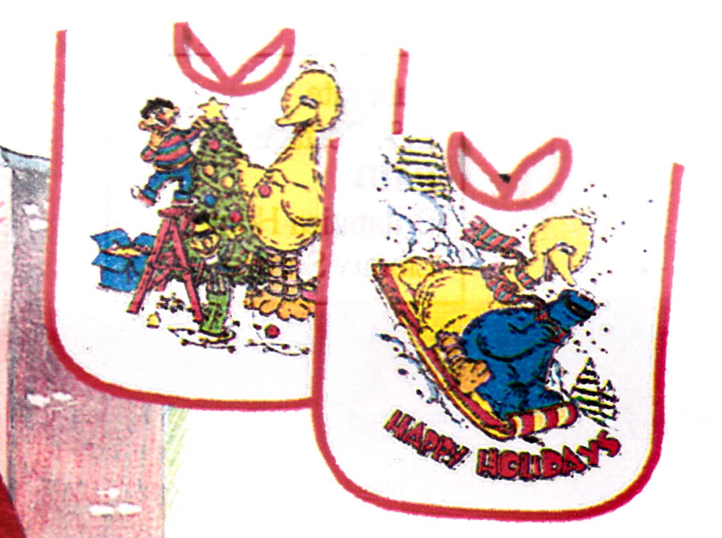 Sesame Street bibs (Applause)