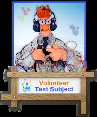 Beaker Volunteer Badge