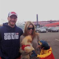 Amy Reimann and Dale Earnhardt Jr