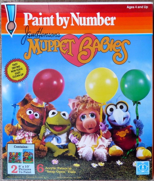 Muppet Babies Paint by Number kits
