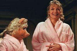 Michelle Pfeiffer and Piggy bathrobes.jpg